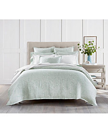 Charter Club Sleep Luxe Cotton 800-Thread Count 3-Pc. Printed Aloe Scroll King Duvet Set, Created For Macy's