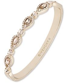 Gold-Tone Crystal Navette Bangle Bracelet