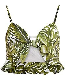 Tie-Front Bralette Crop Top
