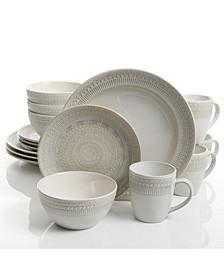 Amberdale 16-piece Dinnerware Set  Cream, Service for 4