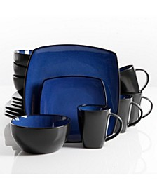 Soho Lounge 16-piece Dinnerware Set Blue, Service for 4