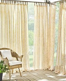 "Verena Sheer Floral 52"" x 84"" Indoor/Outdoor Tab Top Curtain Panel"