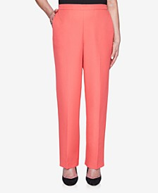 Plus Size Pull On Back Elastic Twill Proportioned Short Pant