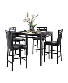 Homelegance Madeline Counter Height Dining Room Table and Chairs, Set of 5
