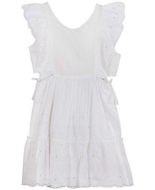 Big Girls Eyelet Ruffle Dress