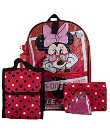 Minnie Mouse Backpack, 5 Piece Set