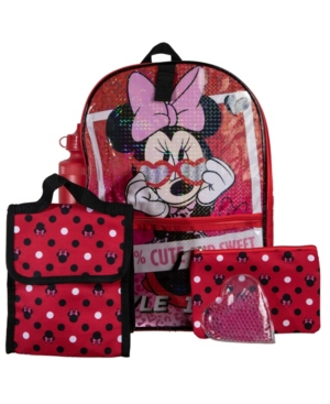 Bioworld Minnie Mouse Backpack, 5 Piece Set
