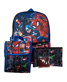 Avengers Backpack, 5 Piece Set
