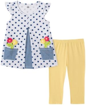 Kids Headquarters Baby Girls 2-Pc. Dot-Print Tunic & Leggings Set