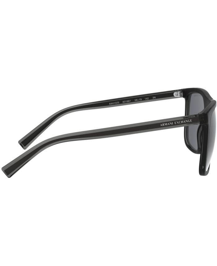 A|X Armani Exchange Armani Exchange Sunglasses, 0AX4102S & Reviews - Sunglasses by Sunglass Hut - Men - Macy's
