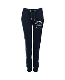 Women's Applique Serif Loopback Joggers