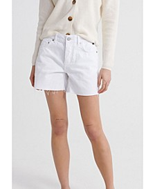 Denim Mid Length Shorts