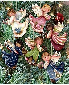Loving Angels Wooden Ornaments Set of 6 by Jamie Mills Price