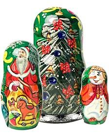 Family Tree Oversized 3 Piece Russian Matryoshka Nested Doll Set