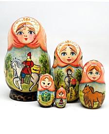 Horsey Ride Prince 5 Piece Russian Matryoshka Wooden Nested Dolls Set