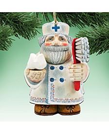Dentist Wooden Christmas Ornament Set of 2