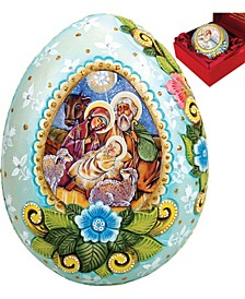 Hand Painted Family Unity Wrapped Wishes Egg Ornament