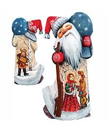 Woodcarved Hand Painted Winter Ballad Santa Figurine