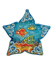 Hand Painted Scenic Ornament Starfish