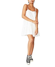 Woven Betty Tiered Mini Dress