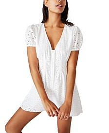 Woven Claudia Short Sleeve Playsuit