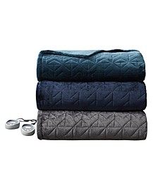 Pinsonic Heated Quilted Blanket, King 90 x 100