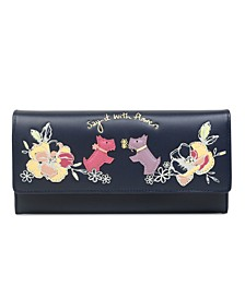 Say It With Flowers Flapover Matinee Wallet