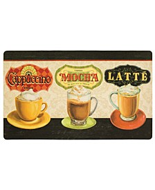 "Comfort Coffee 1' 6"" L X 2' 6"" W Kitchen Mat"