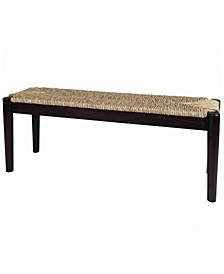Indoor or Outdoor Seagrass Bench