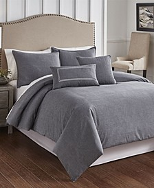 Cross Woven 6 Piece Queen Comforter Set