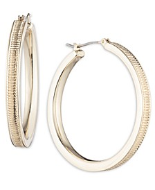 Gold-Tone Medium Hoop Earrings, 1.5""