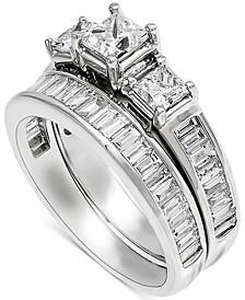 Diamond Princess & Baguette Bridal Set (2-1/4 ct. t.w.) in 14k White Gold