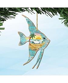 Fish Wooden Ornaments, Set of 2