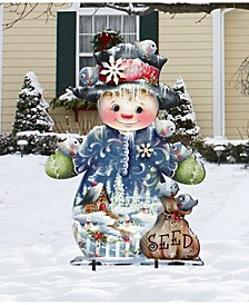 Blue Seed Freezing Friends Oversized Garden Decoration by Jamie Mills Price
