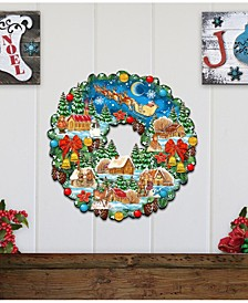 Up Wreath Wall Wooden Decor
