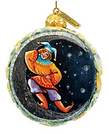Hand Painted Winter Forest Scenic Ornament