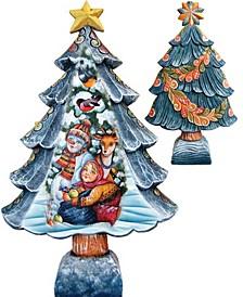 Christmas Tree Santa with Kids Figurine