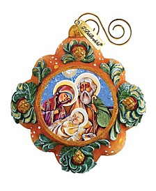 Hand Painted Scenic Ornament Nativity