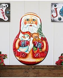 Santa Nesting Doll Wooden Décor