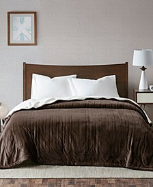 Ultra Soft Reversible Berber/Plush Electric Twin Blanket with Bonus Automatic Timer