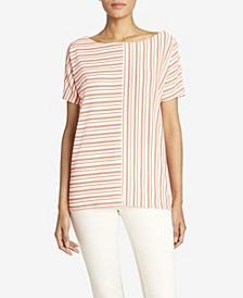 Women's Striped Dolman Sleeve Tee