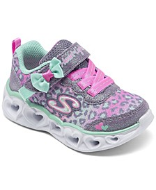 Toddler Girl's S Lights Heart Lights - Untamed Heart Light-Up Stay-Put Closure Casual Sneakers from Finish Line