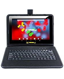 "10.1"" 1280x800 IPS Screen Quad Core 2GB RAM Tablet 32GB Android 10 with Black Keyboard"