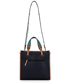 Structured Colorblocked Tote