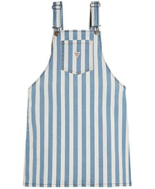 Big Girls Striped Denim Skirtalls