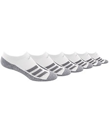 Big Boys Cushioned Angle Stripe No Show Sock Pack of 6