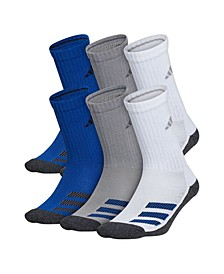 Big Boys Cushioned Angle Stripe Crew Sock Pack of 6