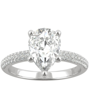 Moissanite Pear Engagement Ring (2-3/8 ct. t.w. Dew) in 14k White Gold