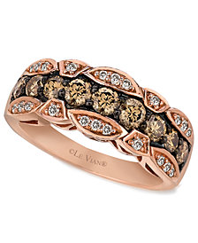 Le Vian Chocolate and White Diamond Band (1-1/8 ct. t.w.) in 14k Rose Gold