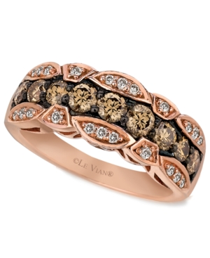 Le Vian 14k Rose Gold Chocolate and White Diamond Band (1-1/8 ct. t.w.)